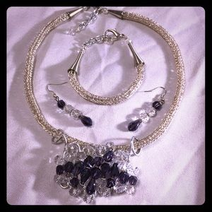 Jewelry - Custom Three Piece Silver Jewelry Set